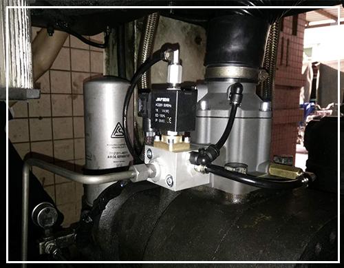 螺杆式空压机进气阀组立